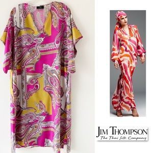 Jim Thompson Italian silk printed Kaftan SZ M